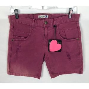 Wildfox Pink Distressed Shorts Size 24 *read*